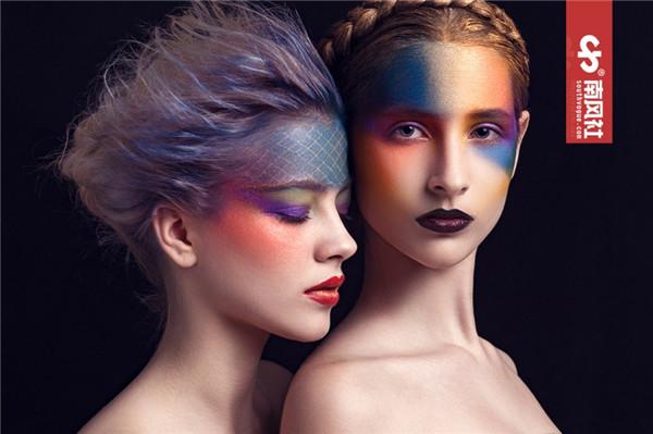 创意彩妆:颜色的碰撞_妆面赏析_影楼化妆_黑光网