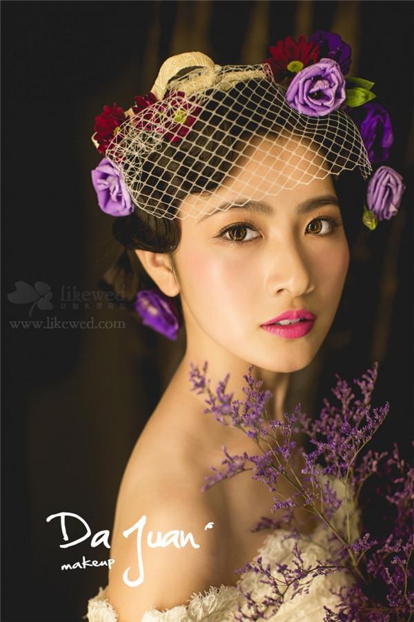唯美的鲜花新娘欣赏_妆面赏析_影楼化妆_黑光网图片