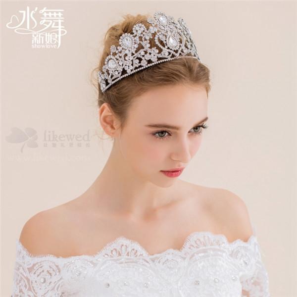 水舞出品奢华大气新娘皇冠头饰,不同材质不同风格,总有一款适合你 !