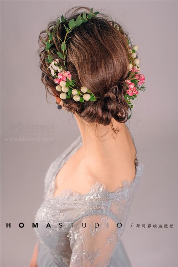 新娘鲜花造型(2)_妆面赏析_影楼化妆_黑光网图片