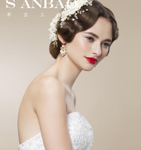欧式新娘妆 化妆造型图片
