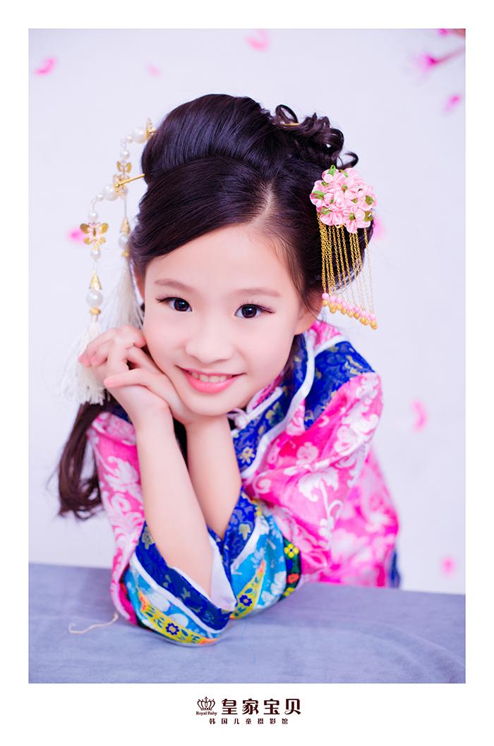 古典美女 儿童摄影