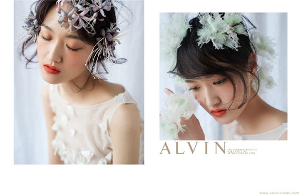 鲜花新娘造型欣赏_妆面赏析
