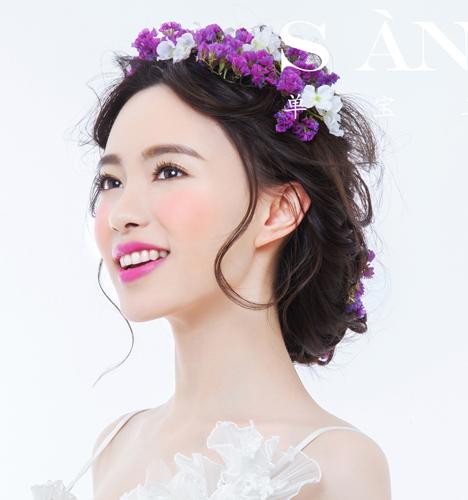 新娘妆容图片