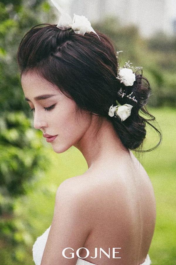 优雅鲜花新娘发型图片欣赏_发型设计图片