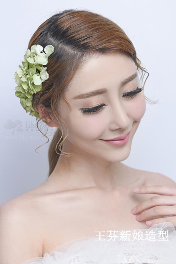 仙女范儿的韩式新娘发型(2)