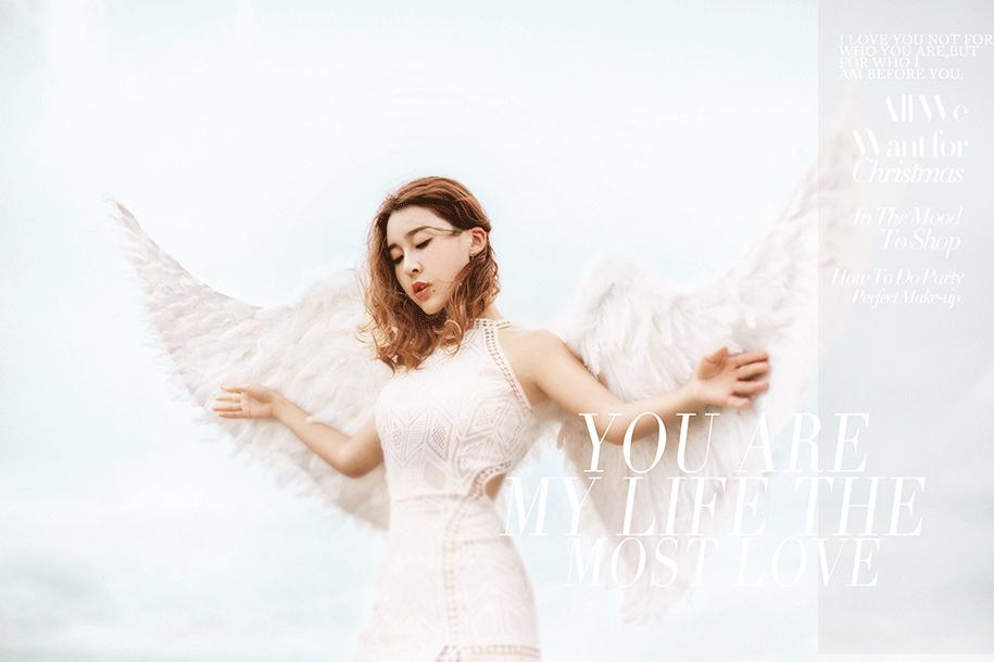 天使翅膀 写真摄影