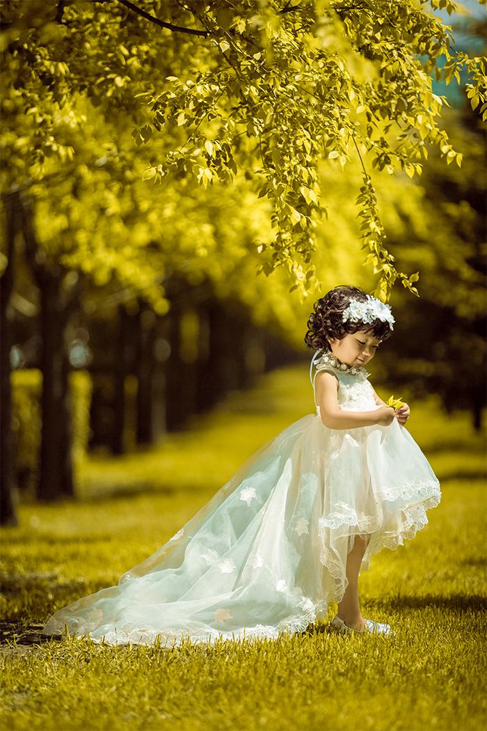 森林公主 兒童攝影圖片
