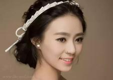 经典的韩式新娘盘发
