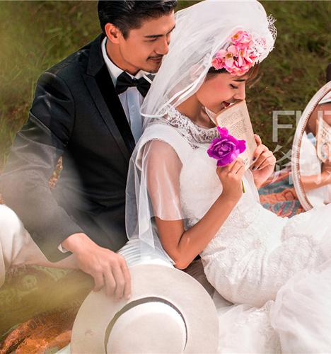 郊外 婚纱照