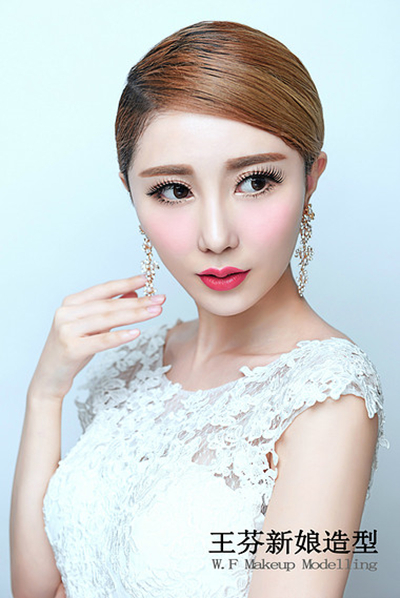 精致优雅的韩式新娘造型_妆面赏析_影楼化妆_黑光网