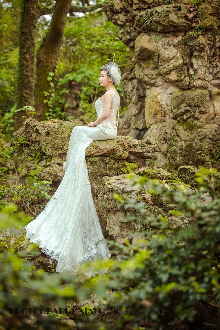 森系婚纱 婚纱照