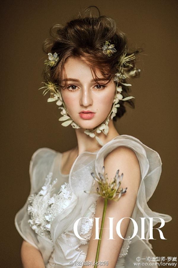 仙美大气的鲜花新娘