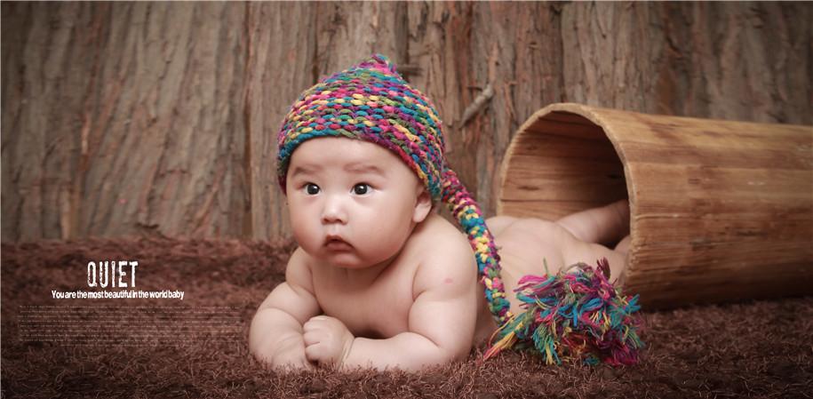 木桶里的宝宝 儿童摄影