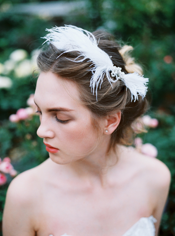 轻复古精致羽毛新娘造型