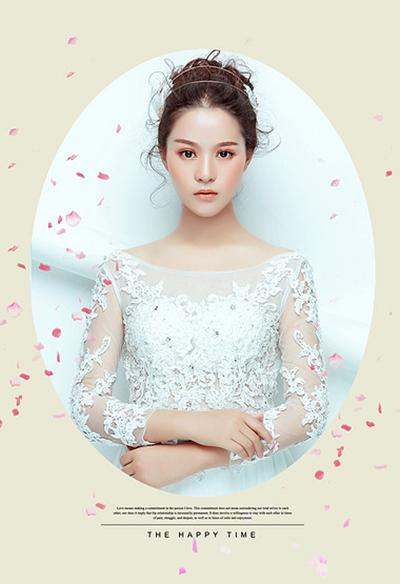 灵动的抽丝,清新可爱的新娘就是你!
