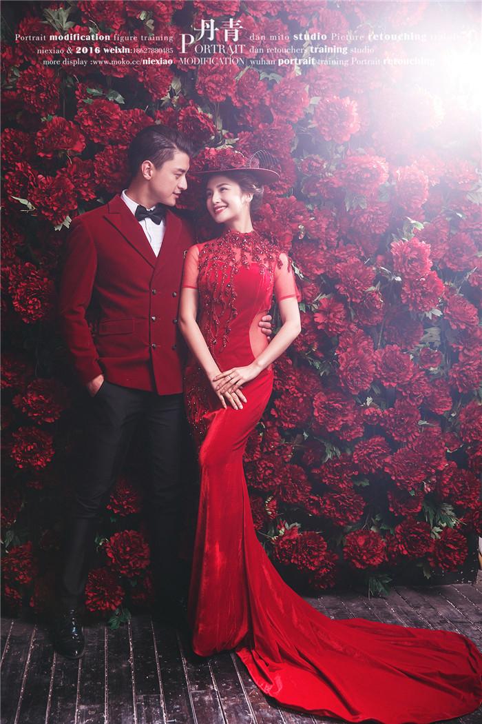 红色爱情 婚纱照