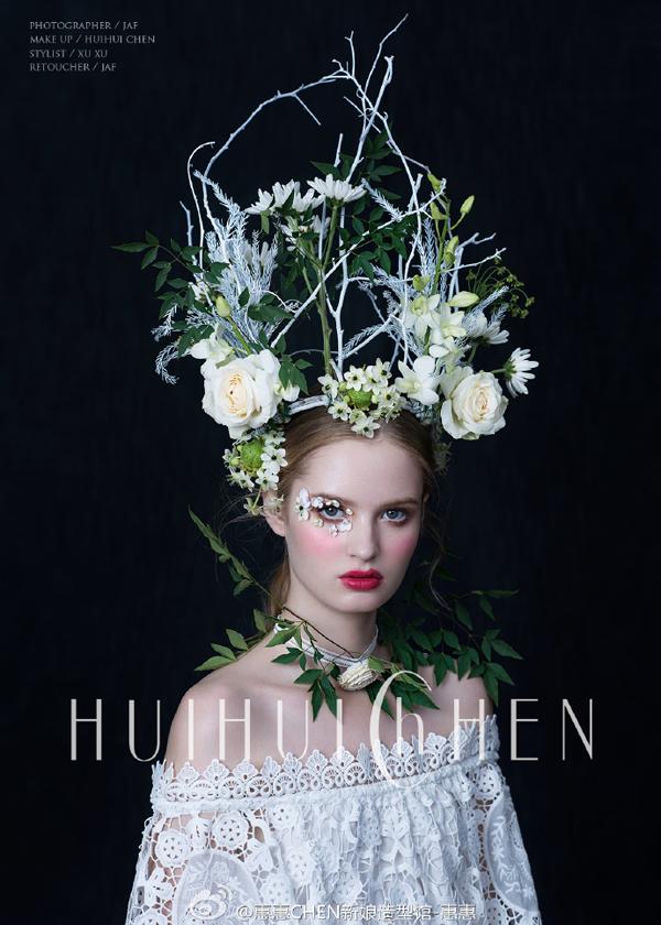 时尚新娘系列之鲜花造型图片