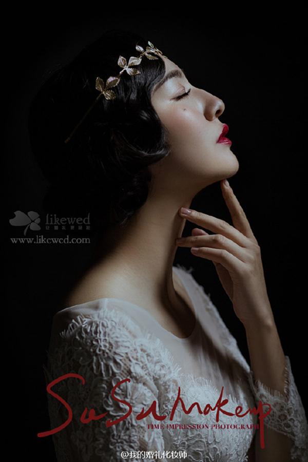复古新娘造型欣赏_妆面赏析_影楼化妆_黑光网