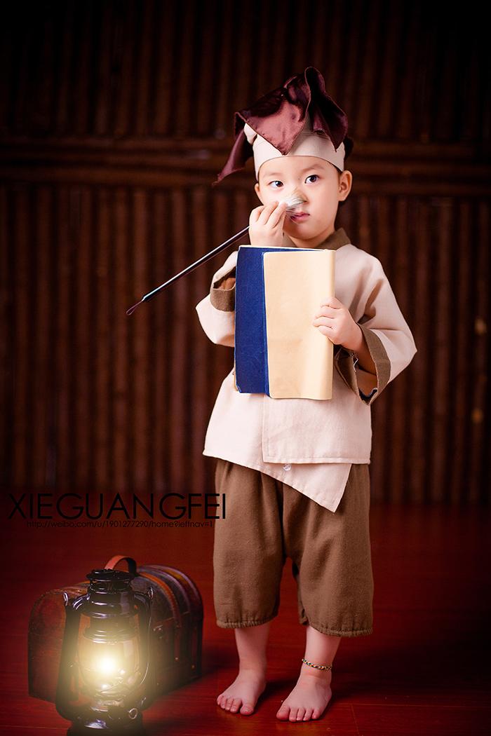 小书童 儿童摄影图片