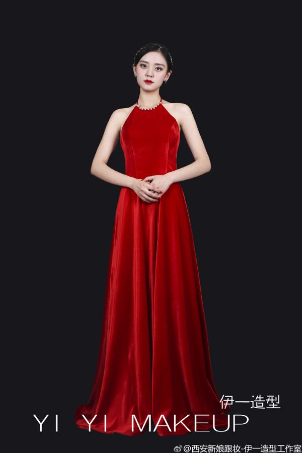 红色新娘礼服造型欣赏