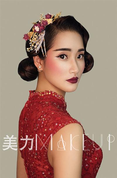 经典复古的新娘造型(2)_妆面赏析_影楼化妆_黑光网
