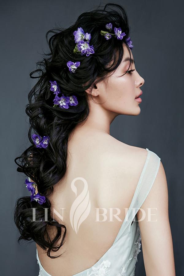 不同的鲜花造型 展现不一样的新娘个性(3)_妆面赏析图片