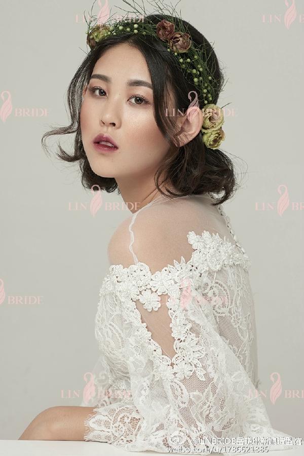 唯美森系新娘鲜花造型(2)