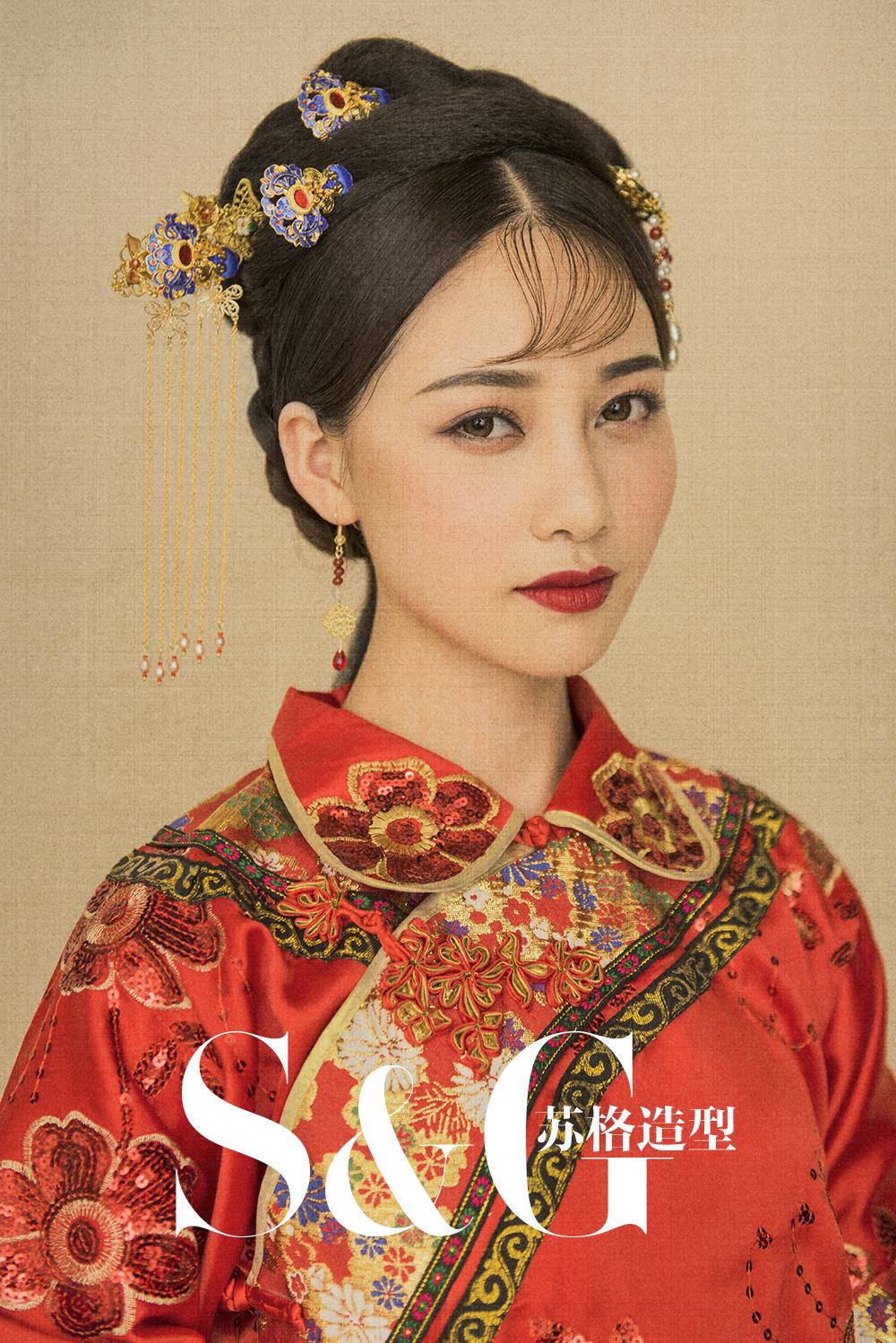 新娘造型 红妆大美中式新娘图片