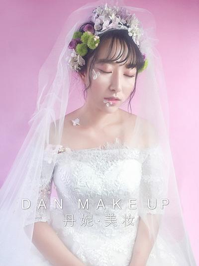 唯美夏日鲜花新娘造型_妆面赏析_影楼化妆_黑光网图片