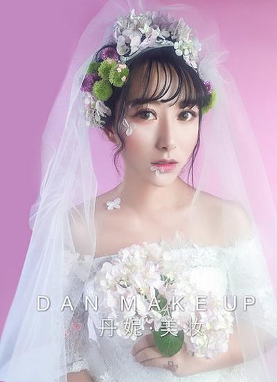 唯美夏日鲜花新娘造型图片