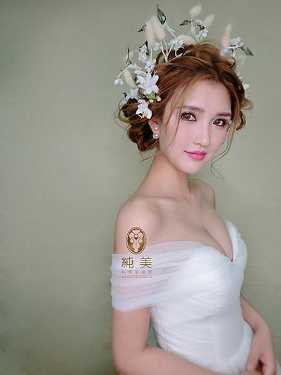 氧气鲜花新娘 打造完美新娘造型图片