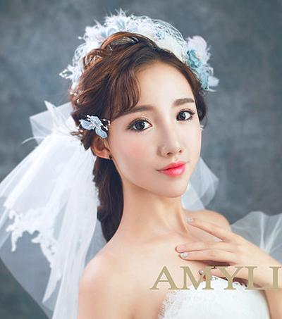 四款韩式甜美新娘造型 尽显女人柔心_妆面赏析_影楼