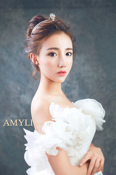 四款韩式甜美新娘造型 尽显女人柔心(2)_妆面赏析__网