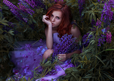 最新影楼资讯新闻-林中仙女 梦幻与魅惑感并存的艺术肖像