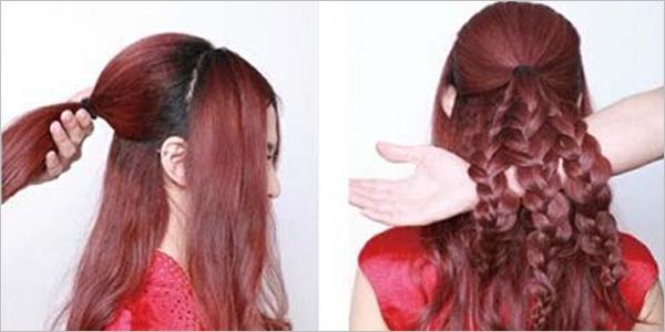 中式新娘发型盘发步骤