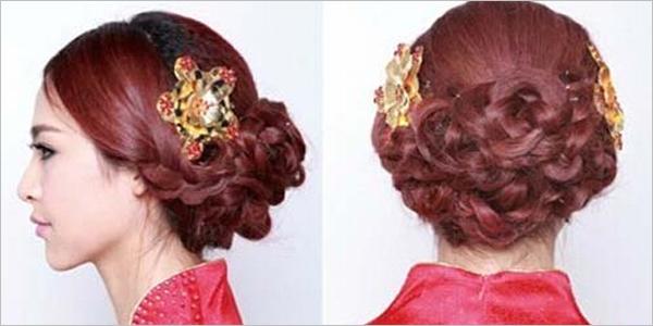 中式新娘发型盘发步骤 注重发型和脸型的搭配技巧解析图片