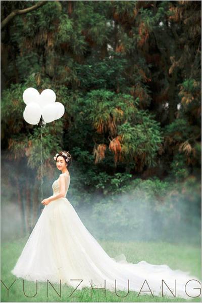 森林系新娘造型 宛如仙子般清新图片