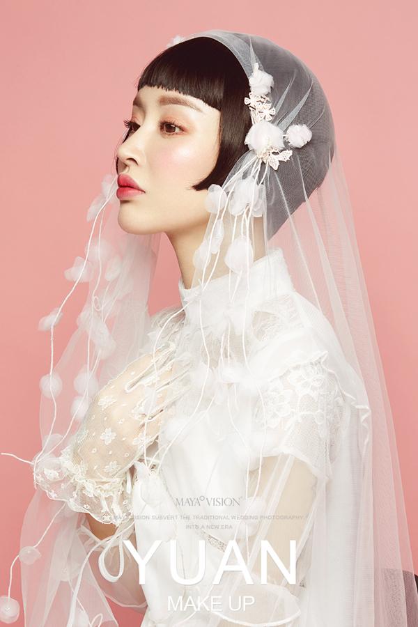 甜美复古新娘造型 让新娘散发出独特的魅力