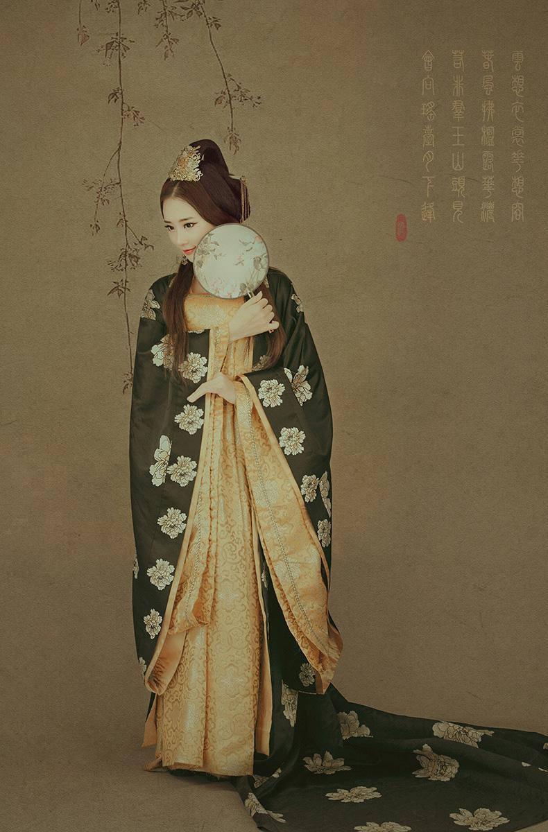 中国风简笔画后期作品:清平调·花想容(2)