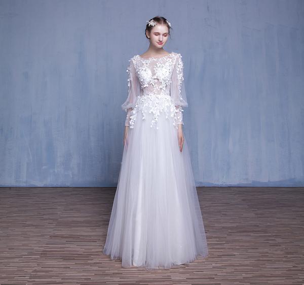 仙气灵动的森林系仙女新娘婚纱造型图片