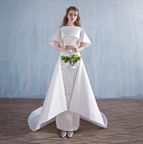 仙气灵动的森林系仙女新娘婚纱造型(2)_妆面赏析_影楼