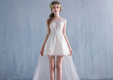 仙气灵动的森林系仙女新娘婚纱造型