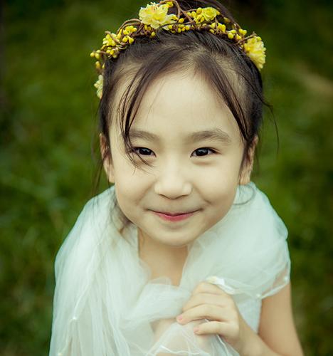 童年的白纱裙 儿童摄影