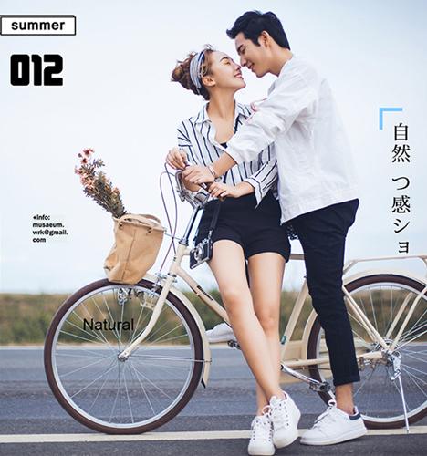 爱情自行车 婚纱照