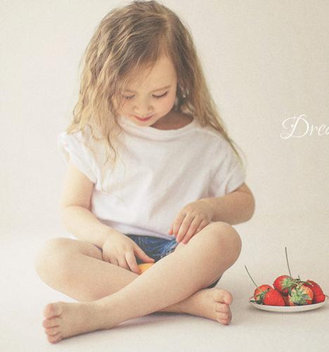 草莓派 儿童摄影