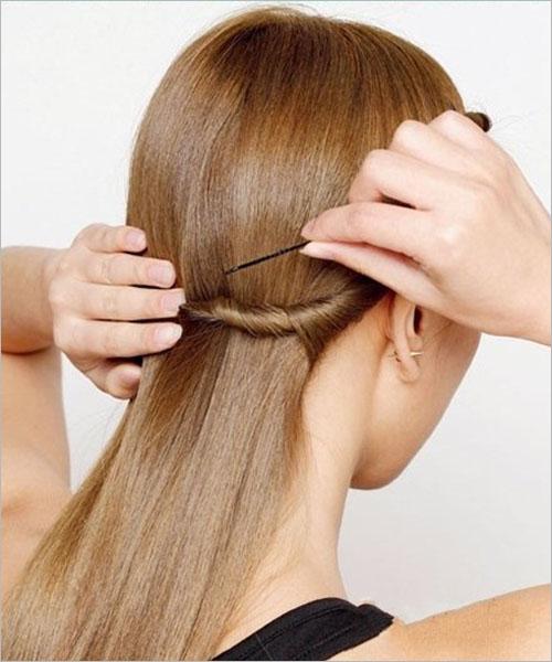 日式新娘发型步骤 简单盘发秀出可爱风图片