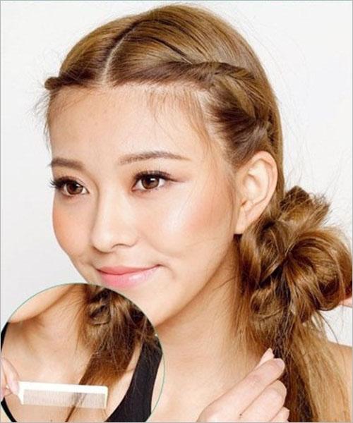 日式新娘发型步骤 简单盘发秀出可爱风(2)
