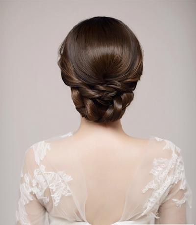 新娘盘发教程 端庄大方新娘盘发发型图解图片