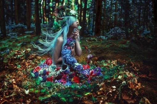 kindra nikole的迷幻森林人像后期作品